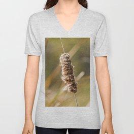 Cattail Scruff. Photograph Unisex V-Neck
