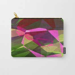 Rosas Moradas 1 Abstract Polygons 2 Carry-All Pouch