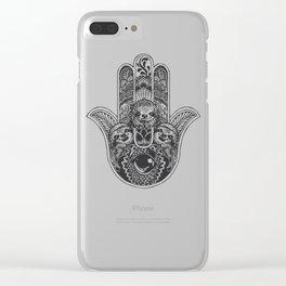 Hamsa Hand Sloth Clear iPhone Case