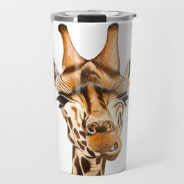 Giraffe painting. White Background Travel Mug