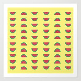 Cute melon print Art Print
