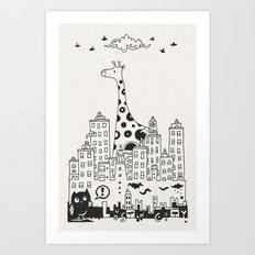 Lost in City Art Print