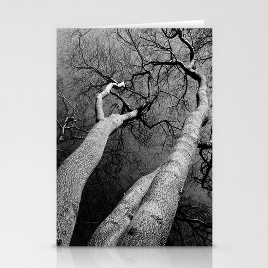 Monochrome Trees Stationery Cards
