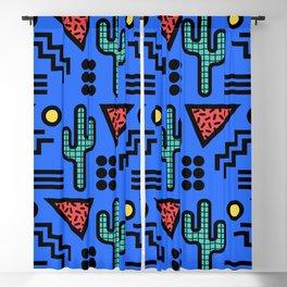 Retro Memphis Style Southwestern Cactus Design 430 Blackout Curtain