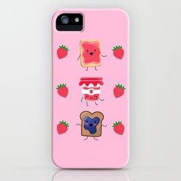 Breakfast Is Jammin' pattern iPhone Case