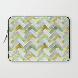 Parquetry in Watercolour - Acid Green Laptop Sleeve