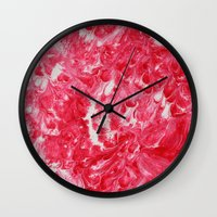 fire emblem Wall Clocks featuring Emblem by Justin Similey