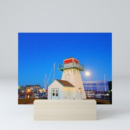 Summerside Harbour lighthouse Mini Art Print