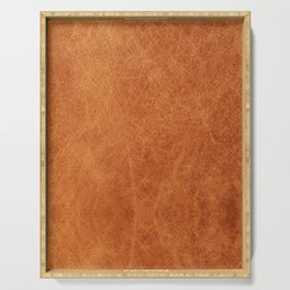 N91 - HQ Original Moroccan Camel Leather Texture Photography Serving Tray