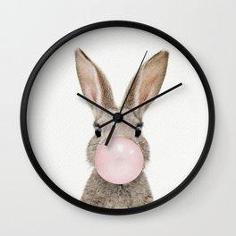 Bubble Gum Rabbit Wall Clock