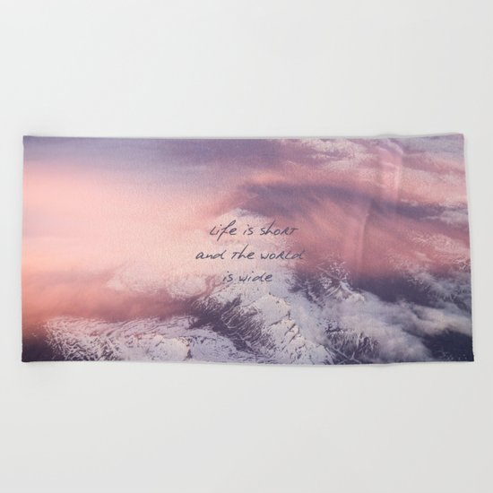 World is wide Beach Towel