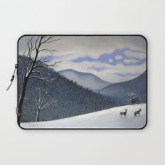 Snow Clearing Laptop Sleeve