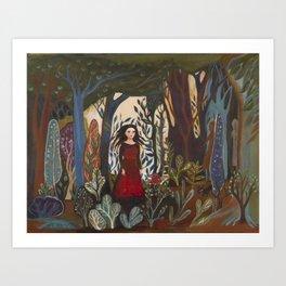 Forest Dress Art Print
