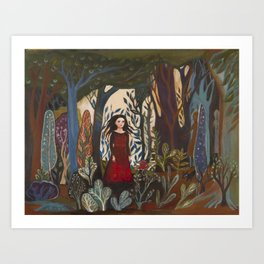 Forest Dress Art Print