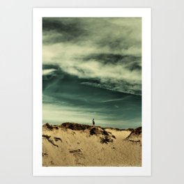 The king of the beach Art Print