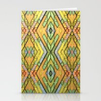 deco Stationery Cards featuring Deco Diamonds by Lyle Hatch