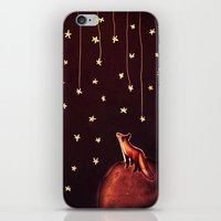 le petit prince iPhone & iPod Skins featuring ~Fox / Le Petit Prince by Federica Amico