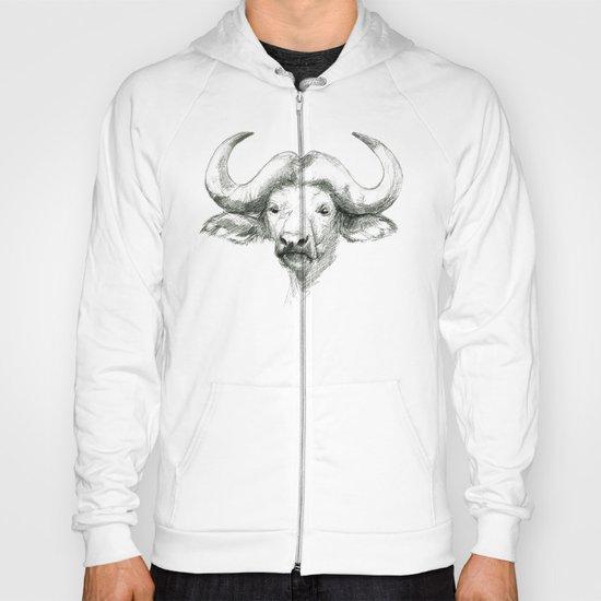 African buffalo sketch SK008 Hoody