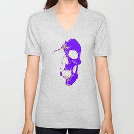 Skull - Purple Unisex V-Neck