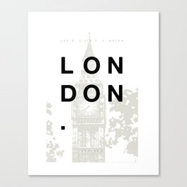 London. Canvas Print