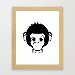 hipster monkey Framed Art Print