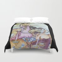 "mucha Duvet Covers featuring ""Restored"" Mucha Illustration by Katie Haire"
