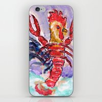 cock iPhone & iPod Skins featuring Cock Lobster by Taylor Winder