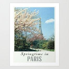 Vintage poster - Springtime in Paris Kunstdrucke