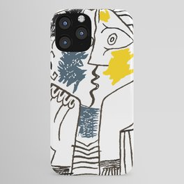 Pablo Picasso Kiss 1979 Artwork Reproduction For TShirts, Framed Prints iPhone Case