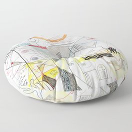 A Family Collaboration - 'No Place Like Home' Floor Pillow