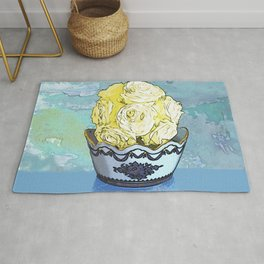 Vase of Yellow Roses Rug