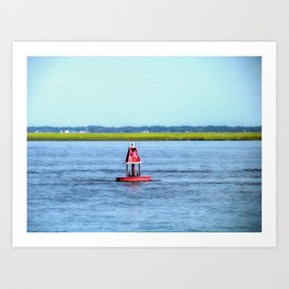 The Little Red Buoy Art Print