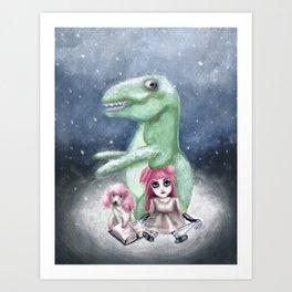 Kimmy and Rex Art Print