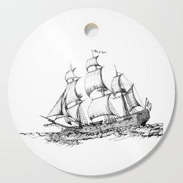 sailing ship . Home decor Graphicdesign Cutting Board