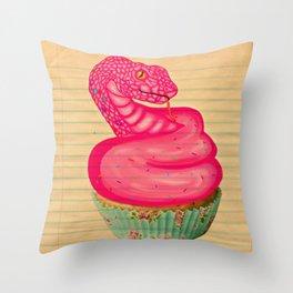 Cupsnake Throw Pillow