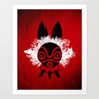 mononoke Art Prints featuring MONONOKE by kravic