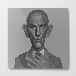 John Malkovich Caricature Metal Print