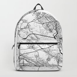Zurich Map White Backpack