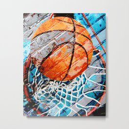 Modern basketball art 3 Metal Print