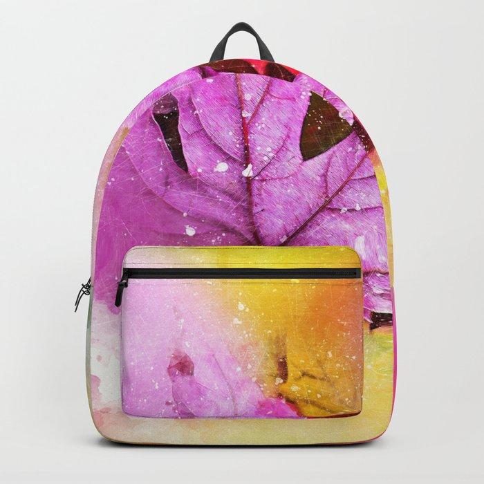 Rainbow Autumn Leaves (Fall Leafs) Backpack