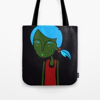 ginger Tote Bags featuring Ginger by Guts N' Gore