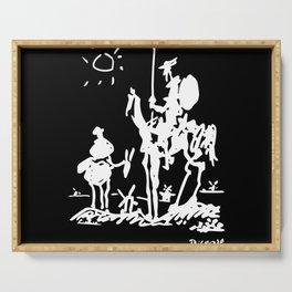 Pablo Picasso Don Quixote 1955 Artwork Shirt, Reproduction Serving Tray