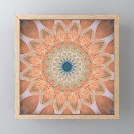 Peach Antique Gold Mandala Framed Mini Art Print