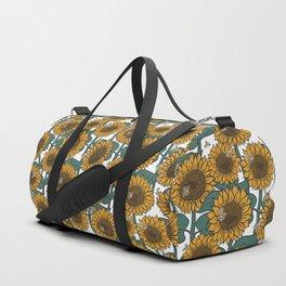 Sunflowers + Bees Duffle Bag