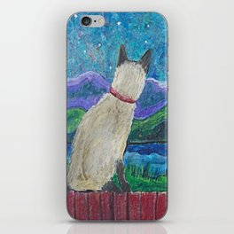 Siamese Cat in the Moonlight iPhone Skin