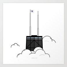CloudCity - John Hancock - Cubs Edition Art Print