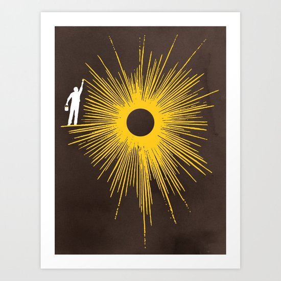 Beaming Art Print