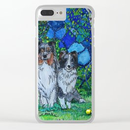 Three Shelties Clear iPhone Case