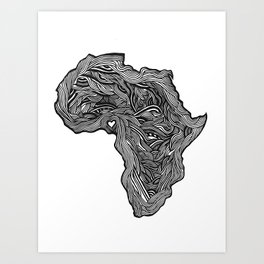 ROOTED (NIGERIA) Art Print