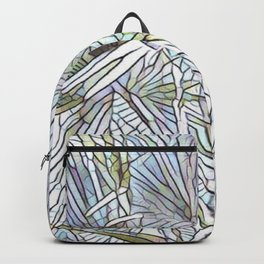 Abstract Palm, Palm Tree Design, White colorful palm, Backpack